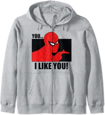 Marvel Spider-Man You... I Like You! Vintage Portrait Panel Sweat à Capuche