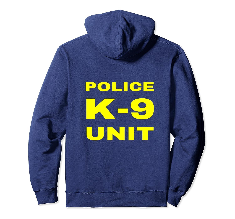 Police K-9 Unit Double Side Front /& Back Print Dog Handler Pullover Hoodie