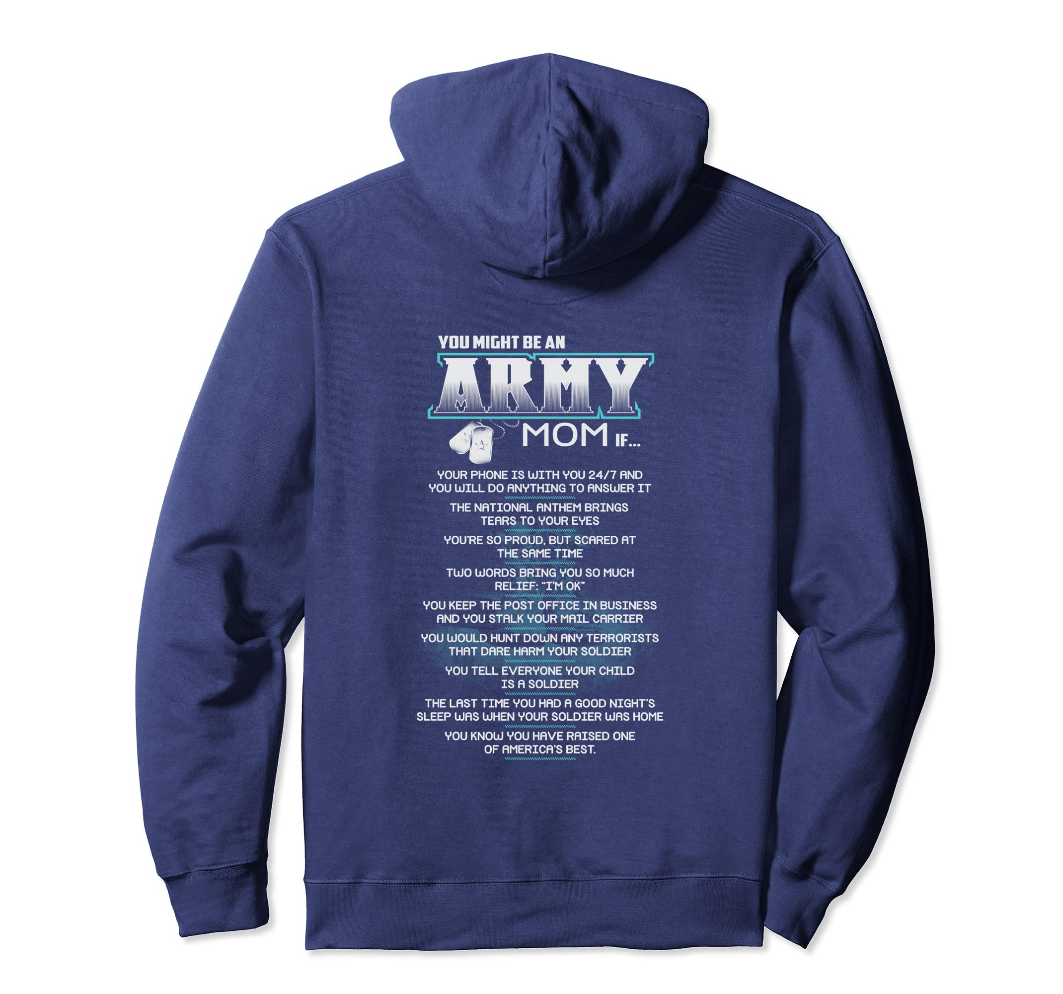 c22cdf54 Amazon.com: You Might Be An Army Mom if... Long Sleeve: Clothing