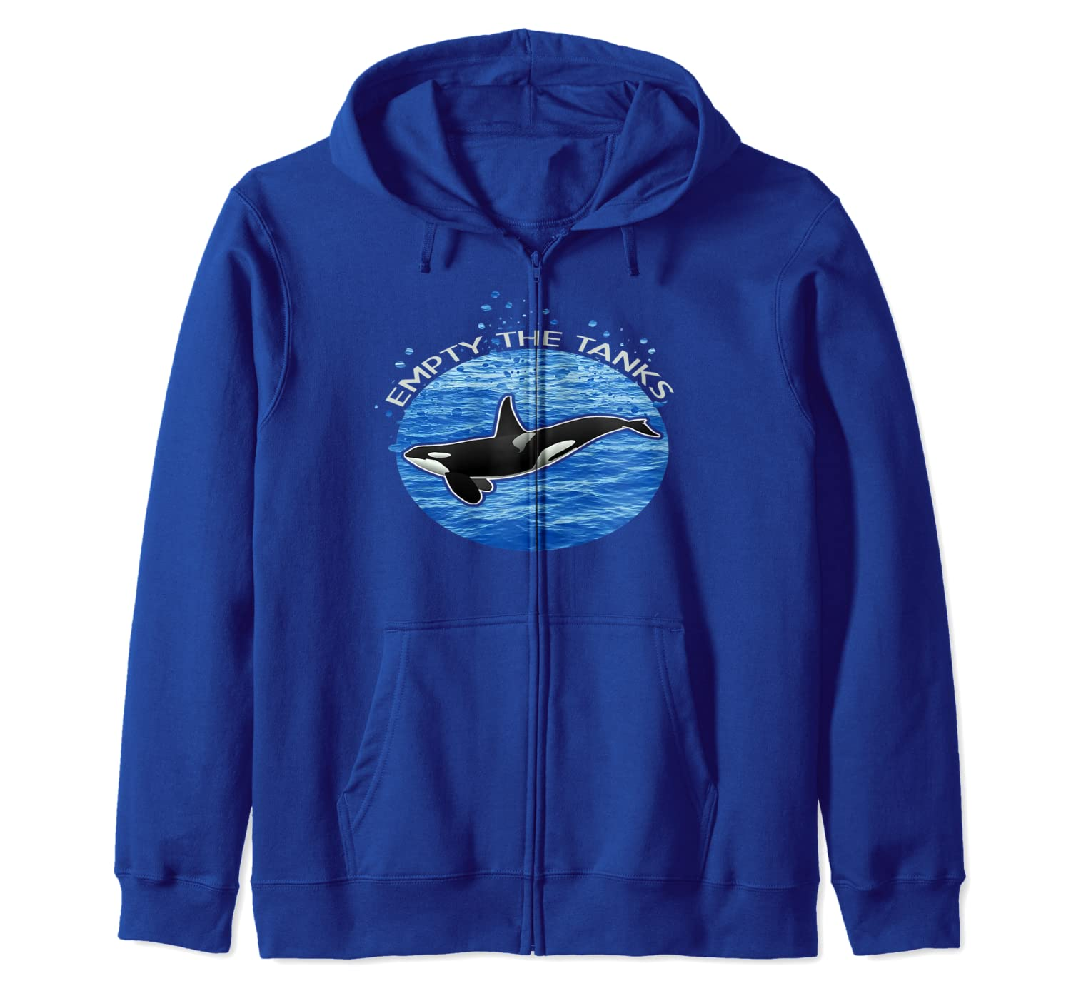 Empty The Tanks Killer Whale Orca Maritime Preservation Zip Hoodie-ANZ