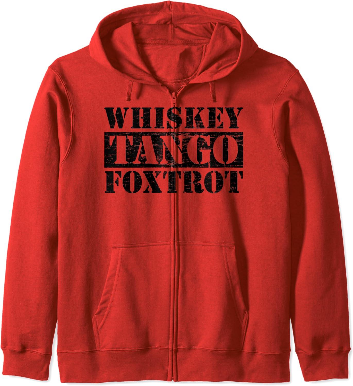 Whiskey Tango Jacksonville Mall Foxtrot Typographic Ranking TOP18 Zip Hoodie