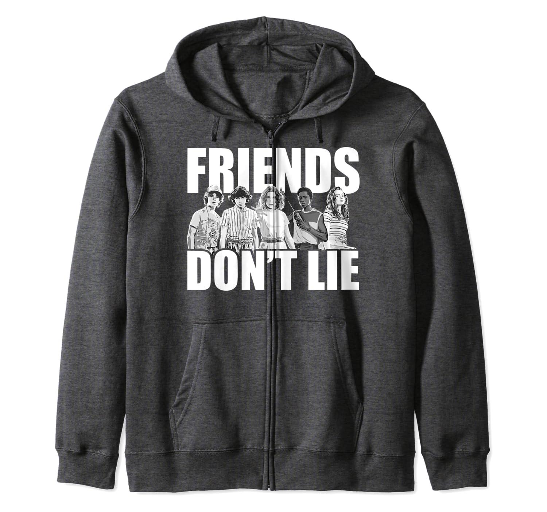 Netflix Stranger Things Friends Dont Lie Group Shot Sudadera con Capucha