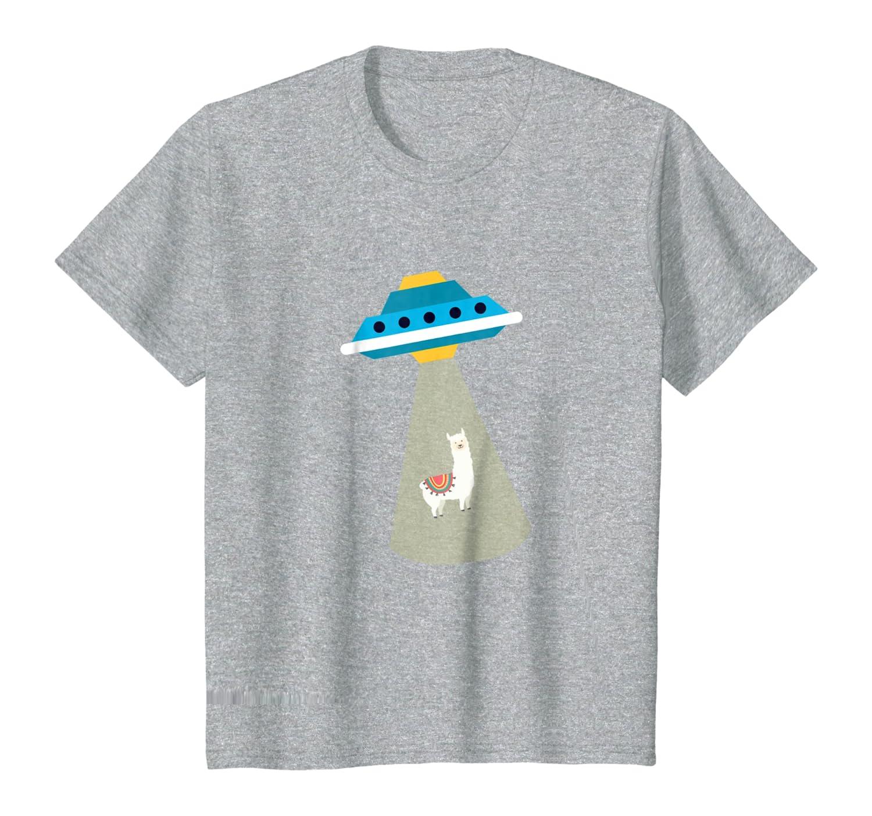 Alien Alpaca in tree UFO Abduction Cute T Shirt Youth