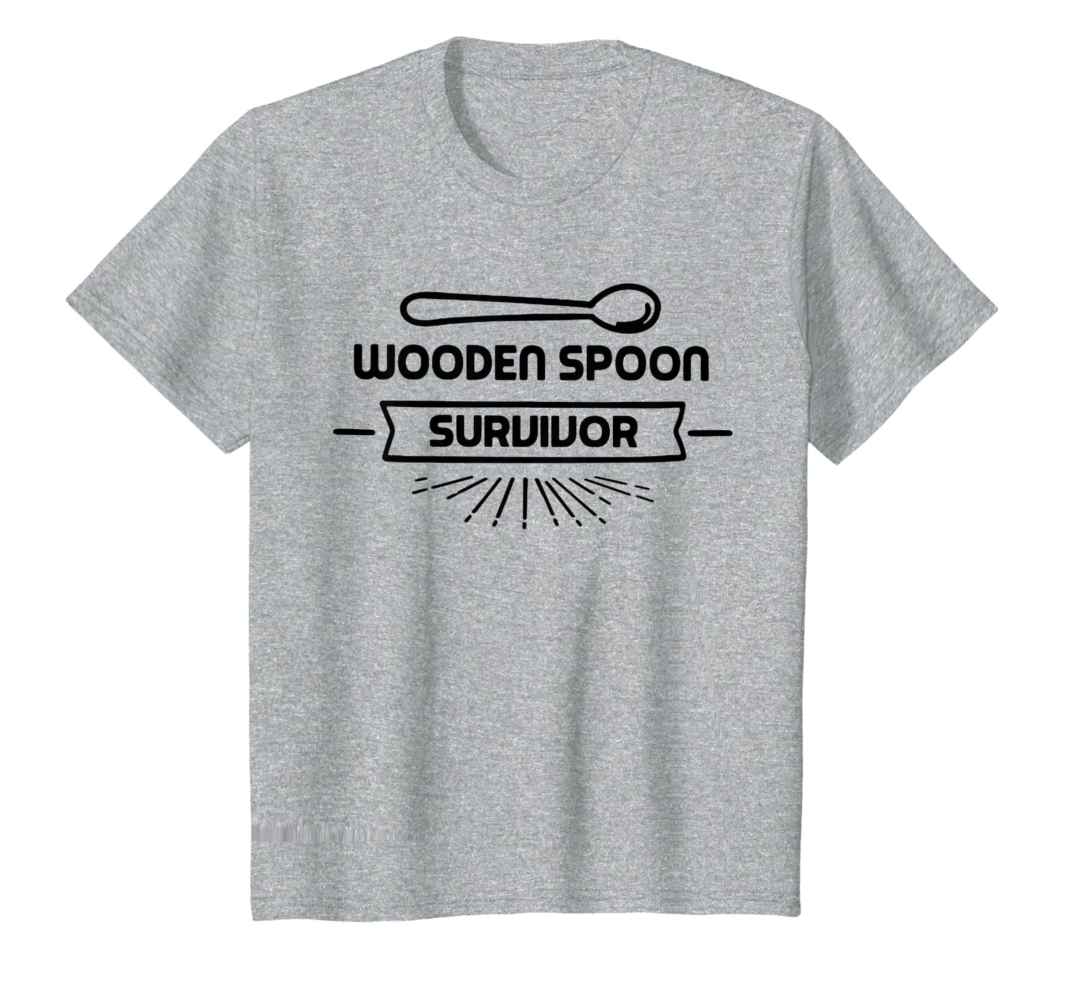 Amazoncom Wooden Spoon Survivor Funny Prank Hilarious Game Shirt