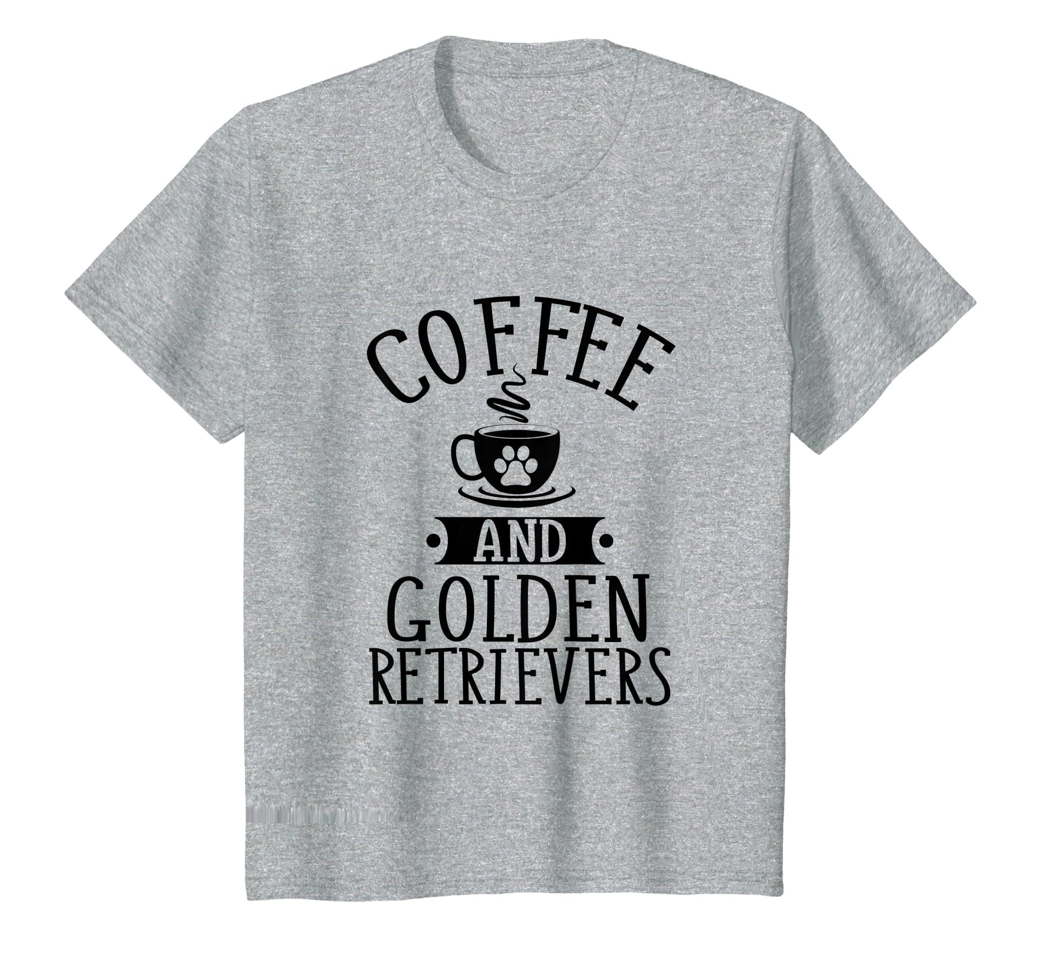 1cad284e0039a4 Amazon.com: Coffee and Golden Retrievers - Golden Lover Shirt Gift: Clothing