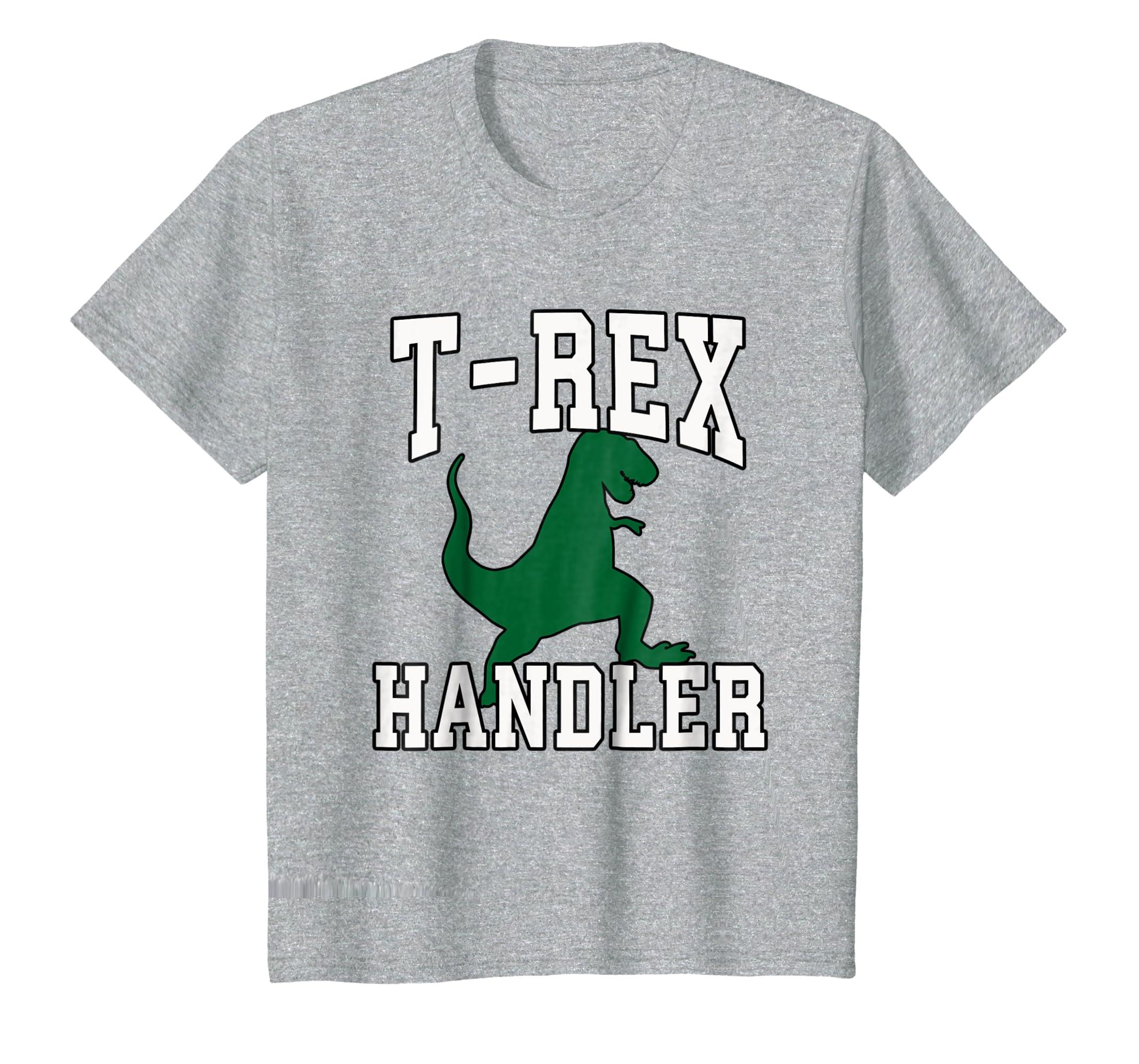 T Rex Handler Halloween T Shirt, Funny Costume Dinosaur-Colonhue