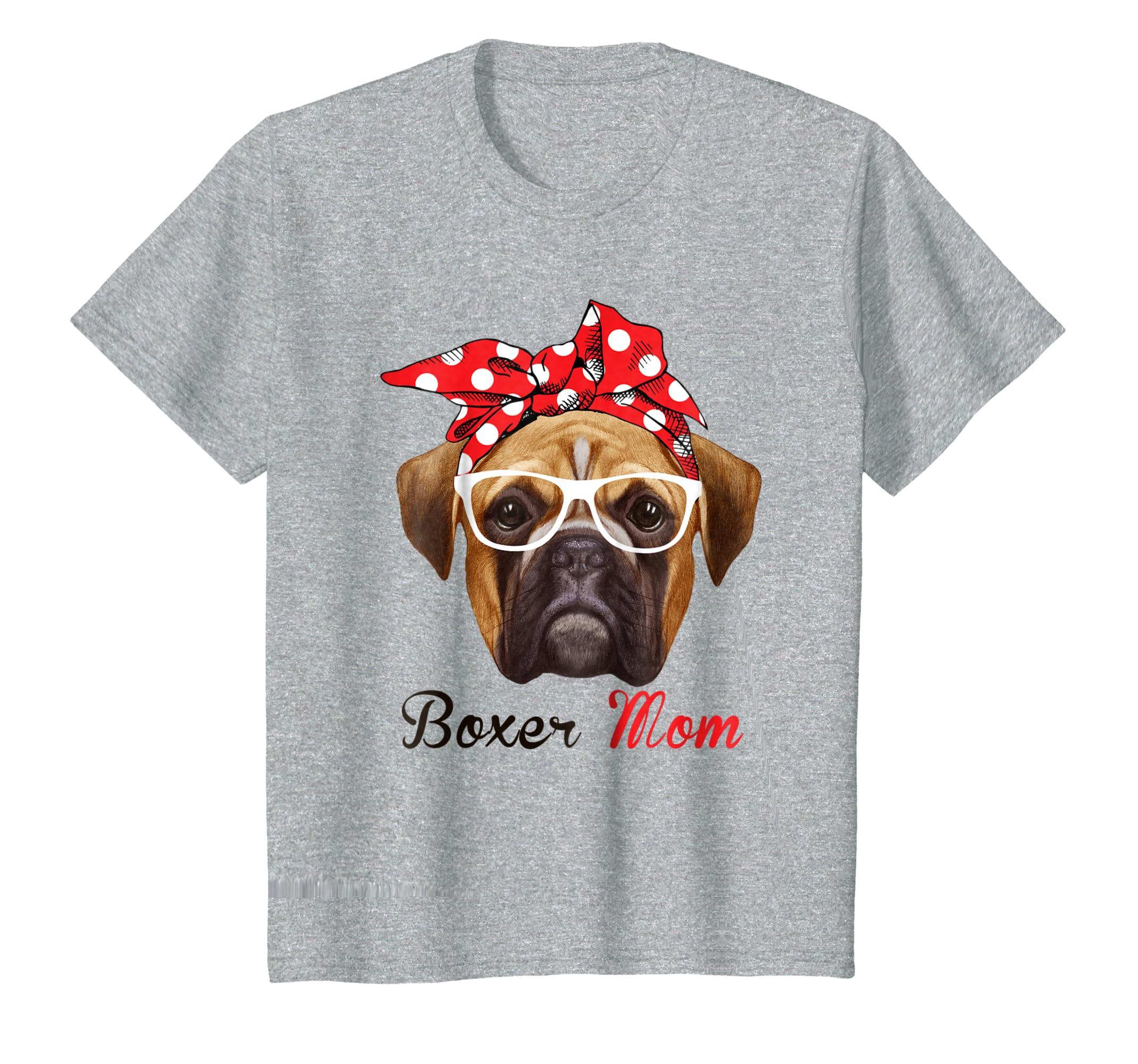 Amazon.com: Funny Boxer Mom Shirt for Women Men Boxer Dogs Lovers ...