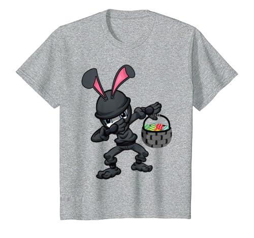 Amazon.com: Easter Bunny Ninja Shirt Eggs Hunting Kung-Fu ...