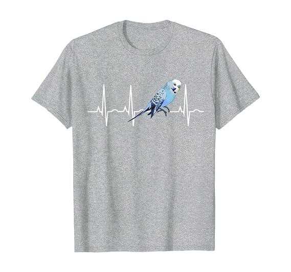 Parakeet Liebhaber Geschenke Parakeet Budgie Heartbeat Shirt Langarmshirt