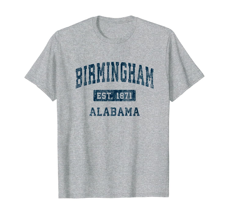 Birmingham Alabama Al Vintage Sports Design Navy Print T-shirt