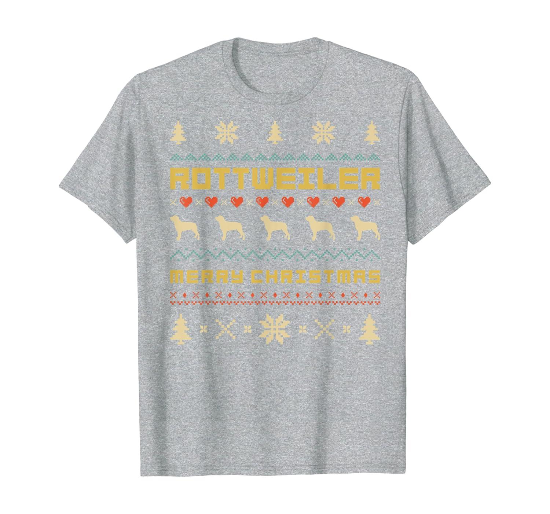 Retro 1970's Style ROTTWEILER Merry Christmas T-Shirt