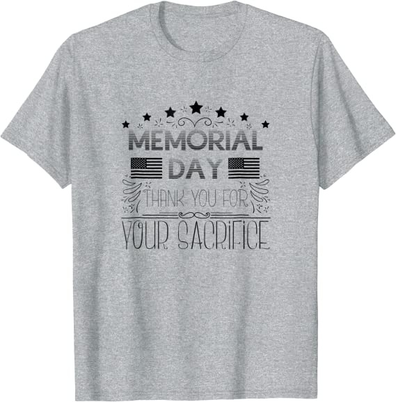 Thank You For Your Service Sacrifice Memorial Veterans Day T-shirt Unisex M-3XL