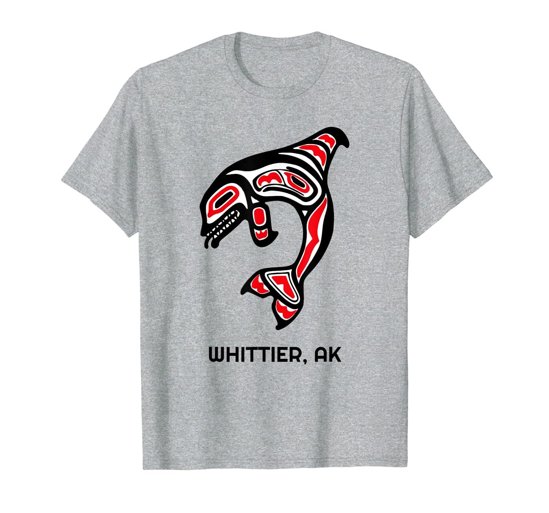 Whittier, Alaska Native American Indian Orca Killer Whales T-Shirt