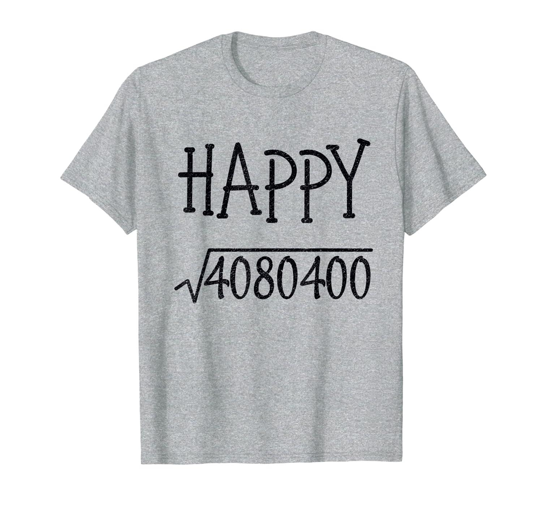 Happy New Year 2020 Square Root Kids Teachers Math Geeks T-Shirt