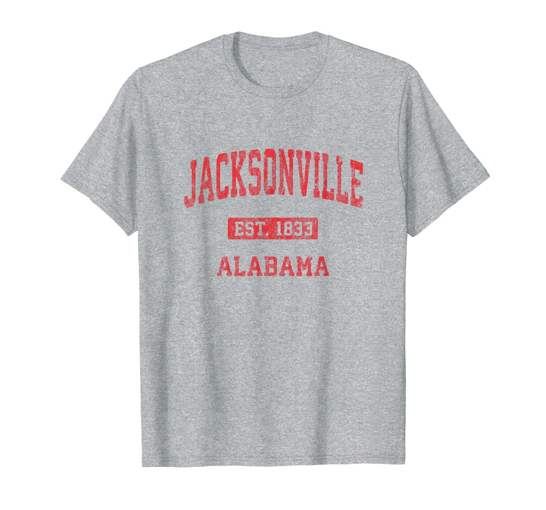 Jacksonville Alabama Al Vintage Athletic Sports Design Shirts