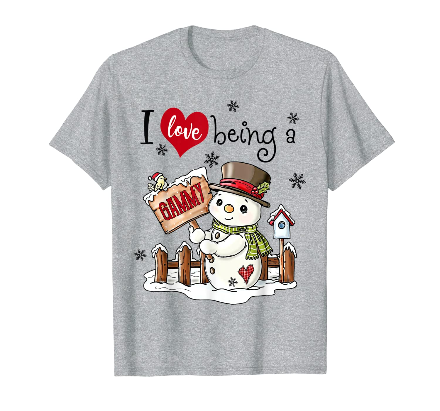 I Love Being A GAMMY Snowman Christmas Hat T-Shirt
