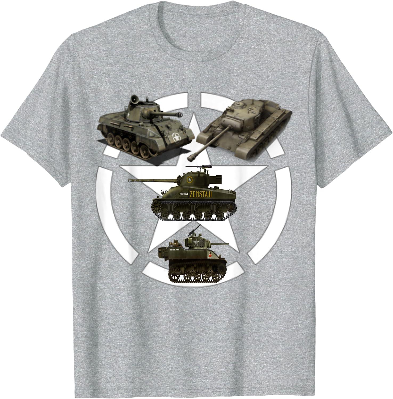 Los tanques Sherman WW2 Hellcat Panzer Tiger Panther Camiseta