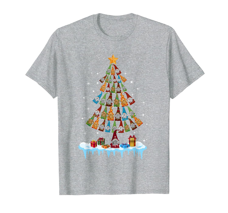 Cute Gnome Garden Gardening Christmas tree Norwegian Swedish T-Shirt-TH