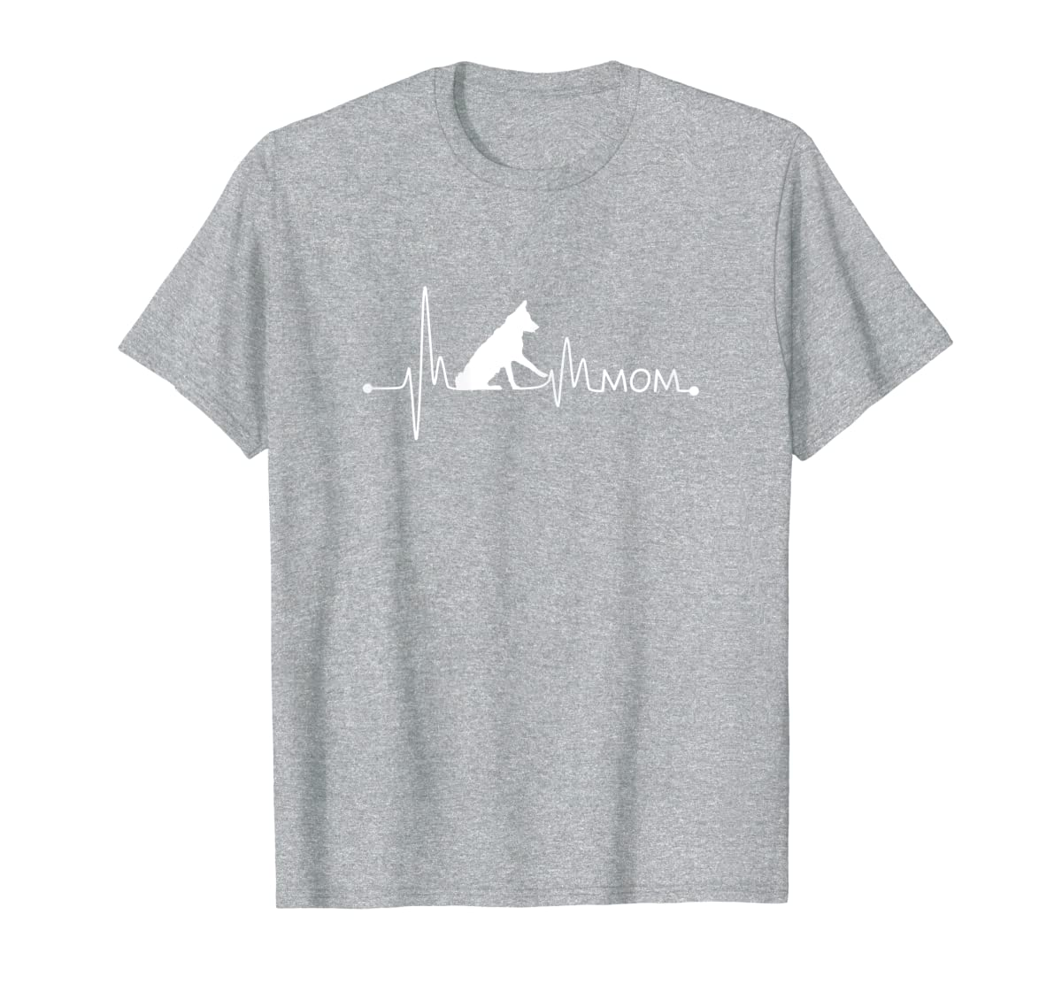 Womens Border Collie Heartbeat Mom Shirt Ekg Pulse Collie Lover Tee-Men's T-Shirt-Sport Grey