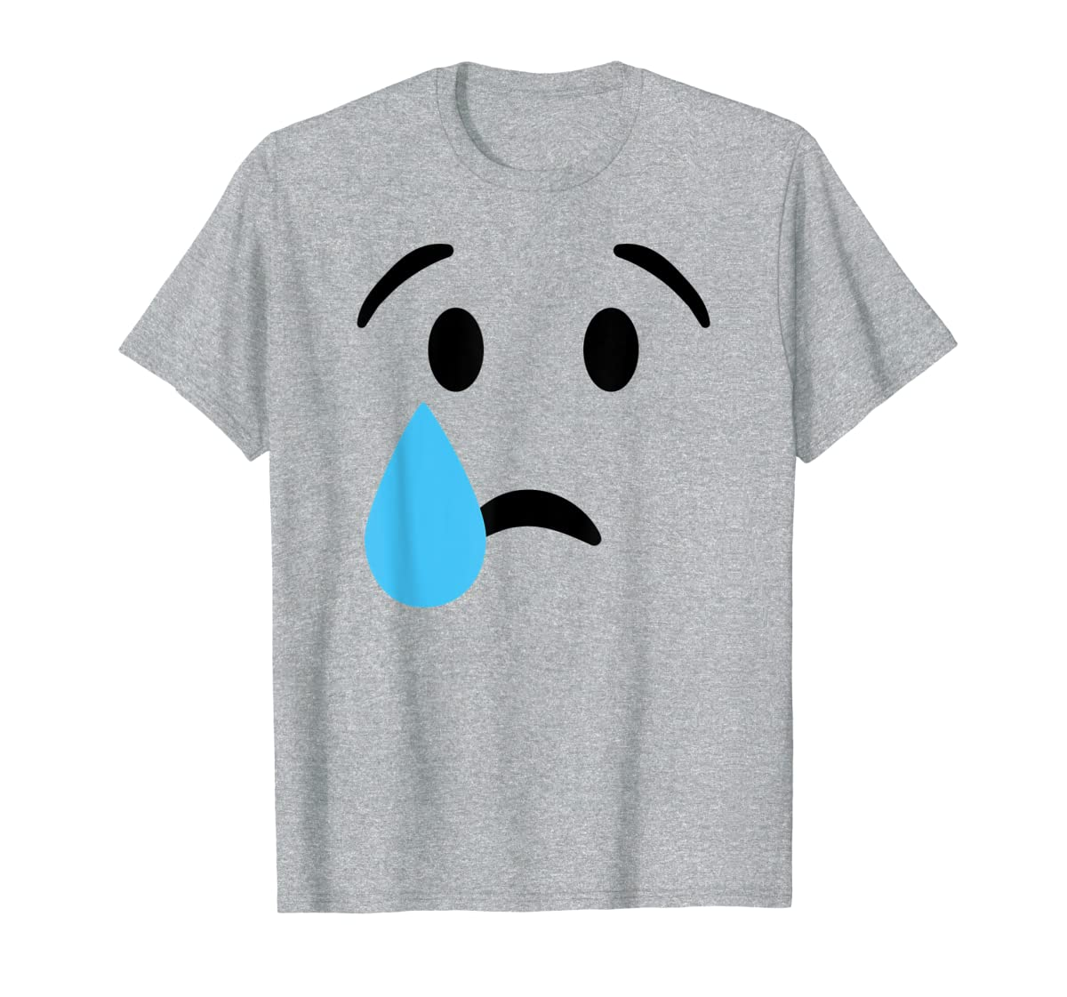 Sad Crying Tear Eyes Face Emojis Emoticon Halloween Costume T-Shirt-Men's T-Shirt-Sport Grey