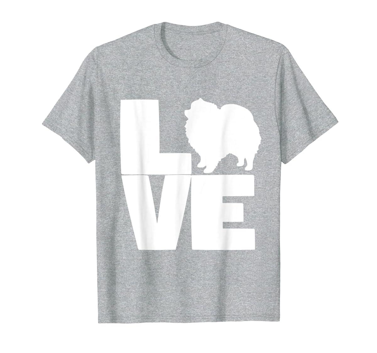 I Love Pomeranians Pom Mom or Dad Pet Lover T Shirt-Men's T-Shirt-Sport Grey