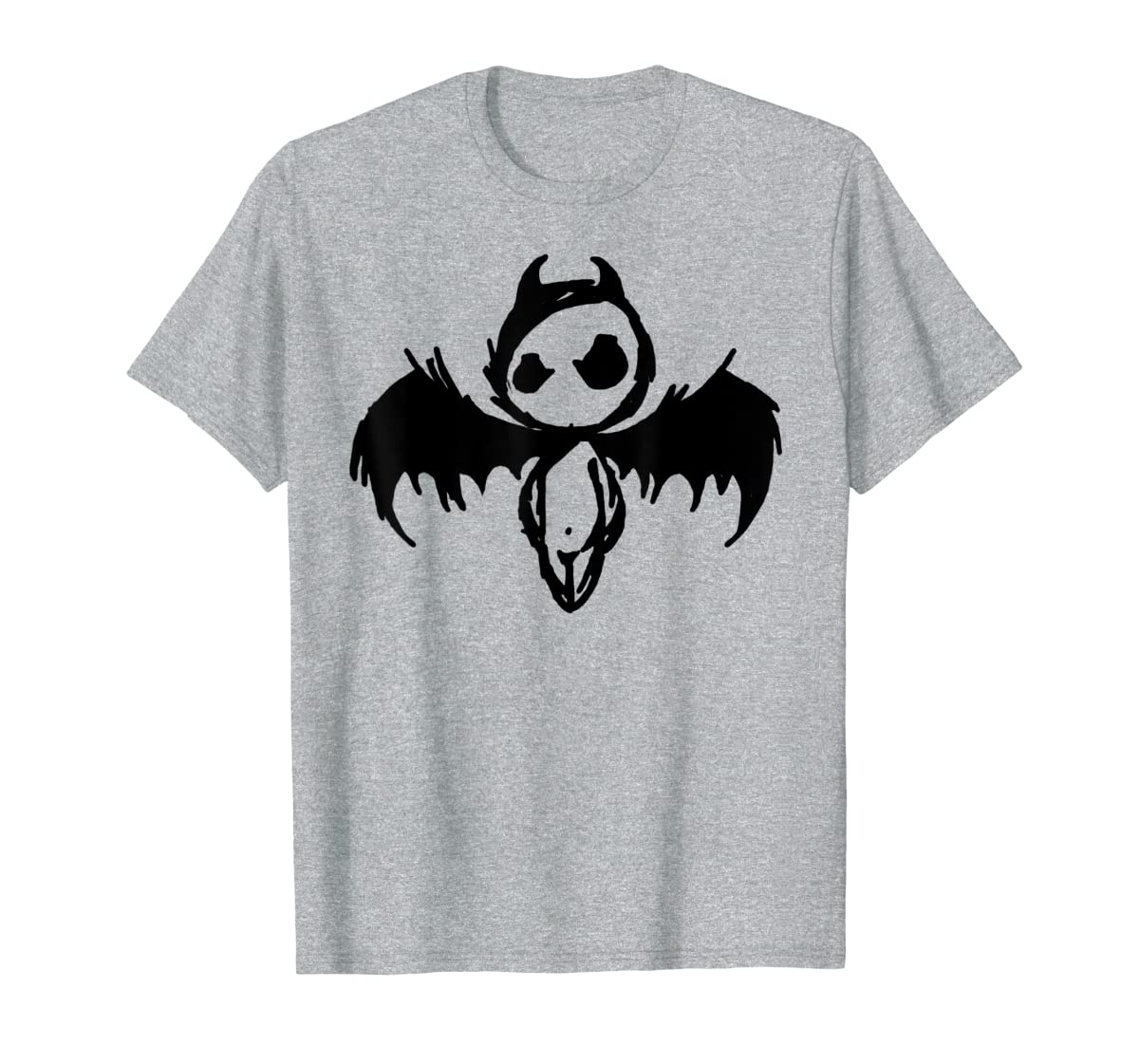 Cute Demon Vintage Couple Matching Halloween Party Costume T-Shirt-Men's T-Shirt-Sport Grey