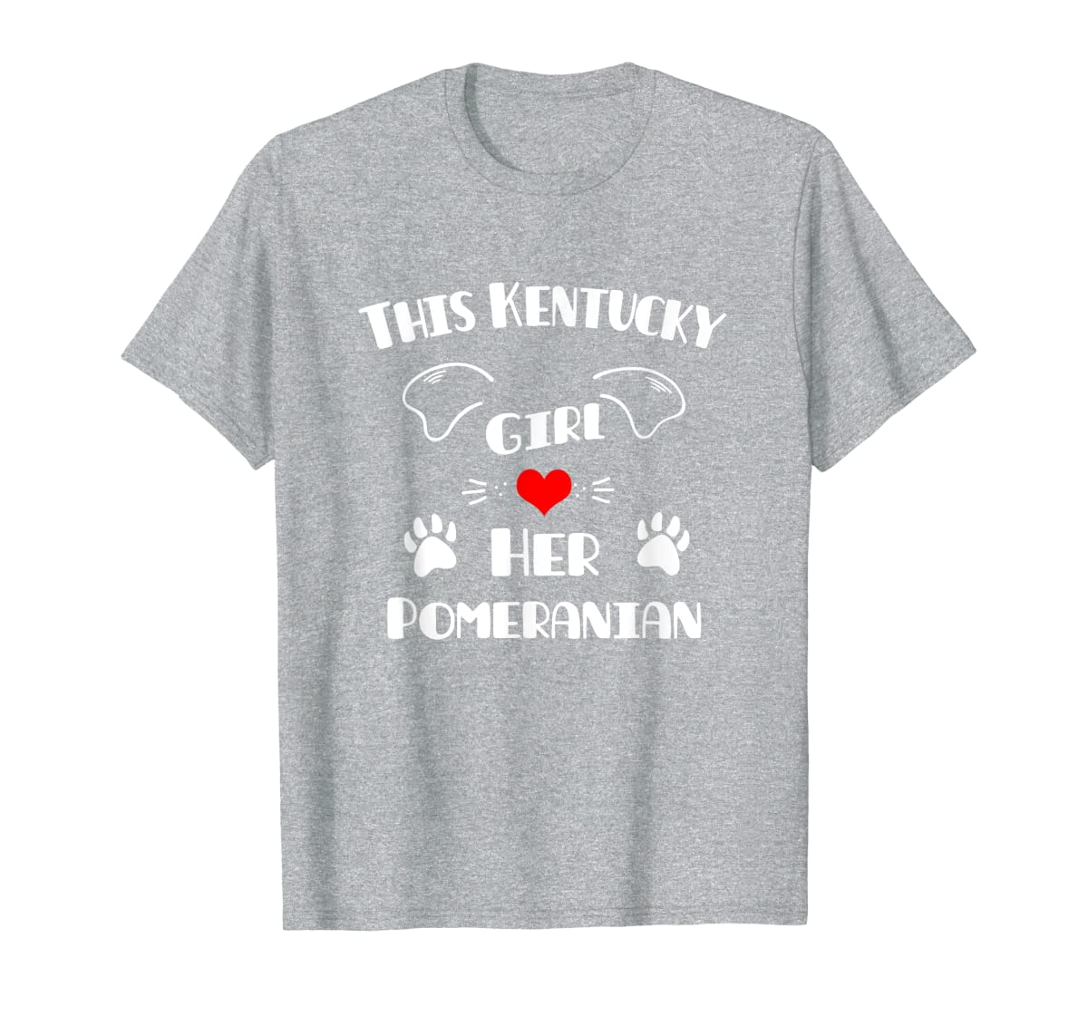 This Kentucky Girl Loves Her Pomeranian T-Shirt-Men's T-Shirt-Sport Grey
