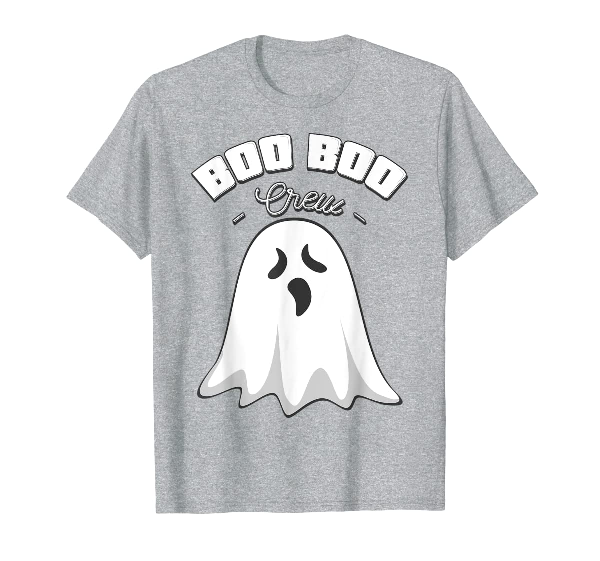 Boo Boo Crew Ghost Funny Halloween Black and Orange Night  T-Shirt-Men's T-Shirt-Sport Grey