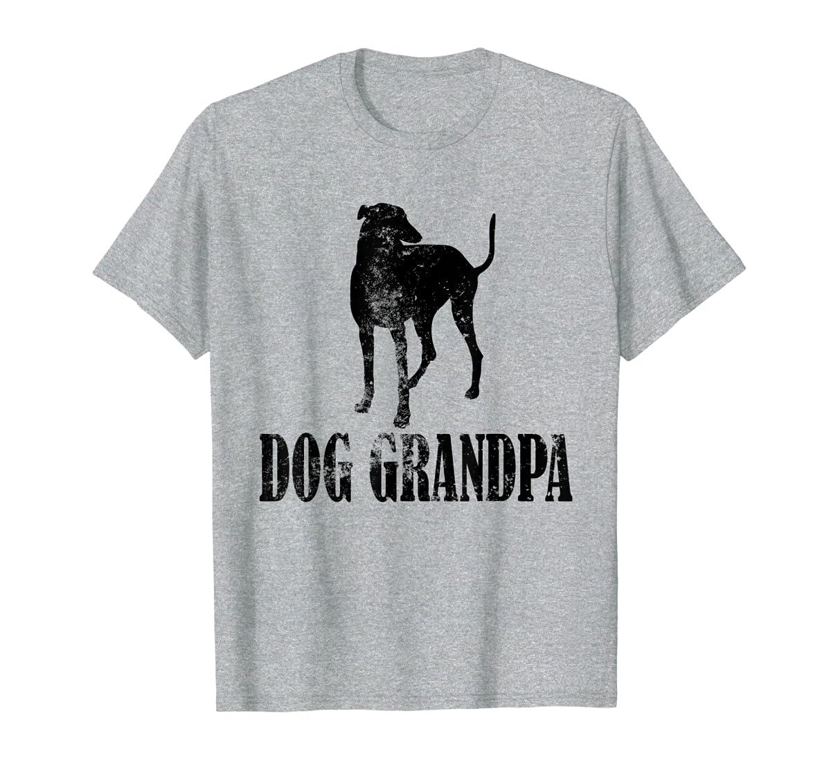 Father's Day T Shirt Greyhound Dog Grandpa T-Shirt Gifts-Men's T-Shirt-Sport Grey