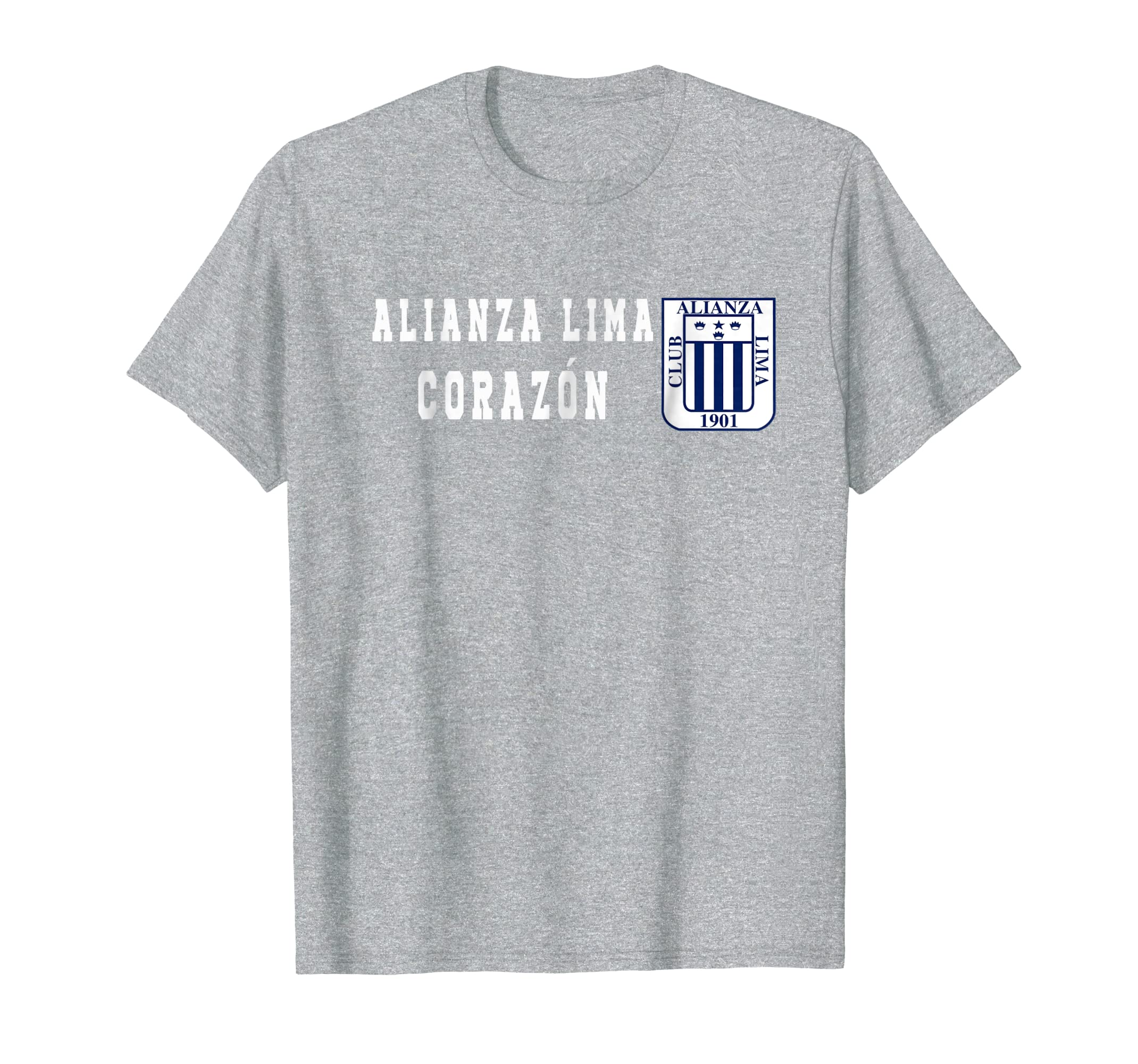 Amazon.com: ALIANZA LIMA CORAZON FUTBOL PERUANO FAN PERUVIAN T SHIRT: Clothing
