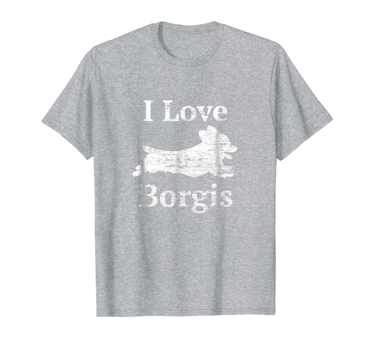 Borgi Shirt - I Love Borgis Cute Mom Dad Dog tshirt-Men's T-Shirt-Sport Grey