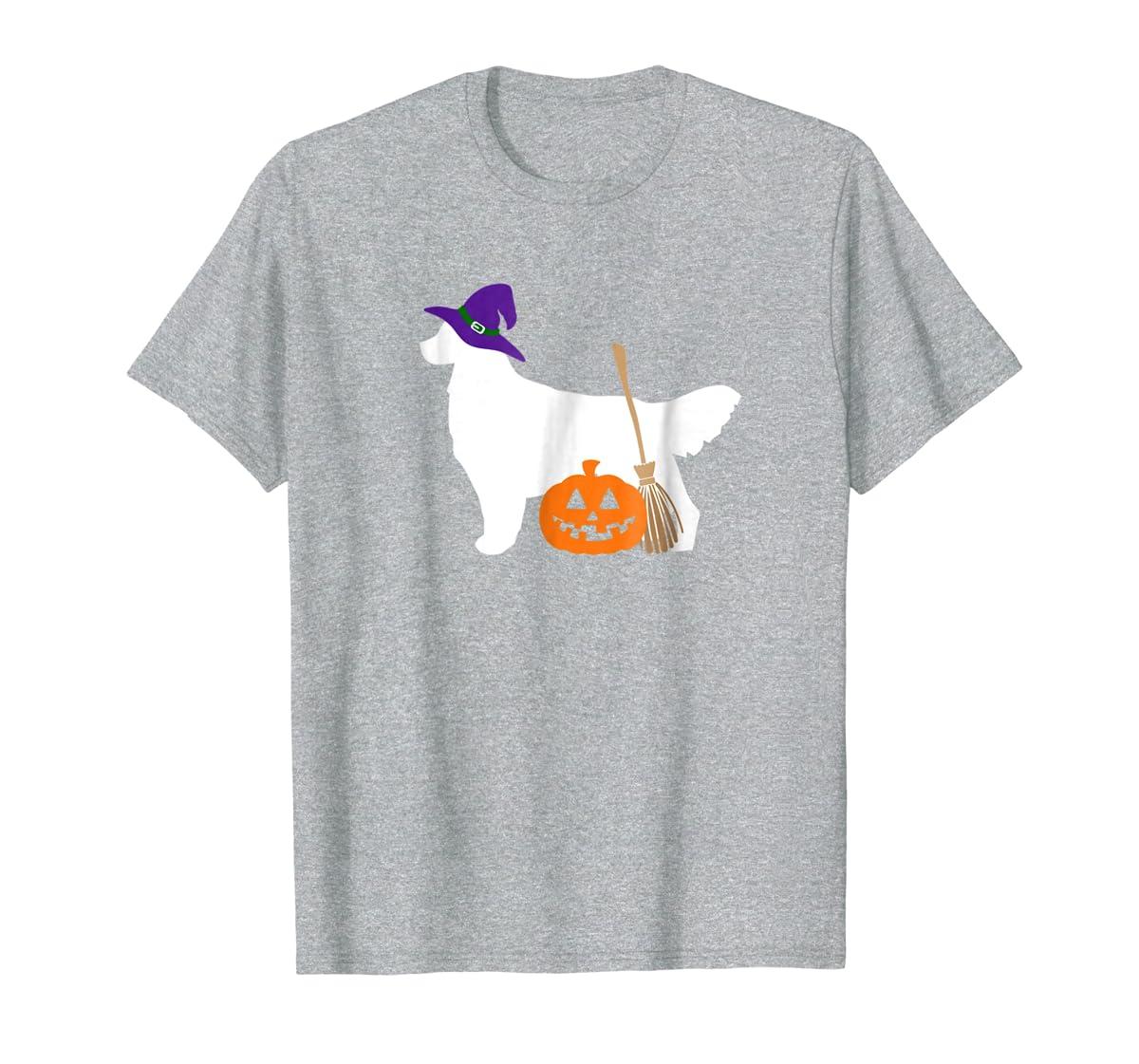 Golden Retriever Witch Hat Halloween Dog T-Shirt-Men's T-Shirt-Sport Grey