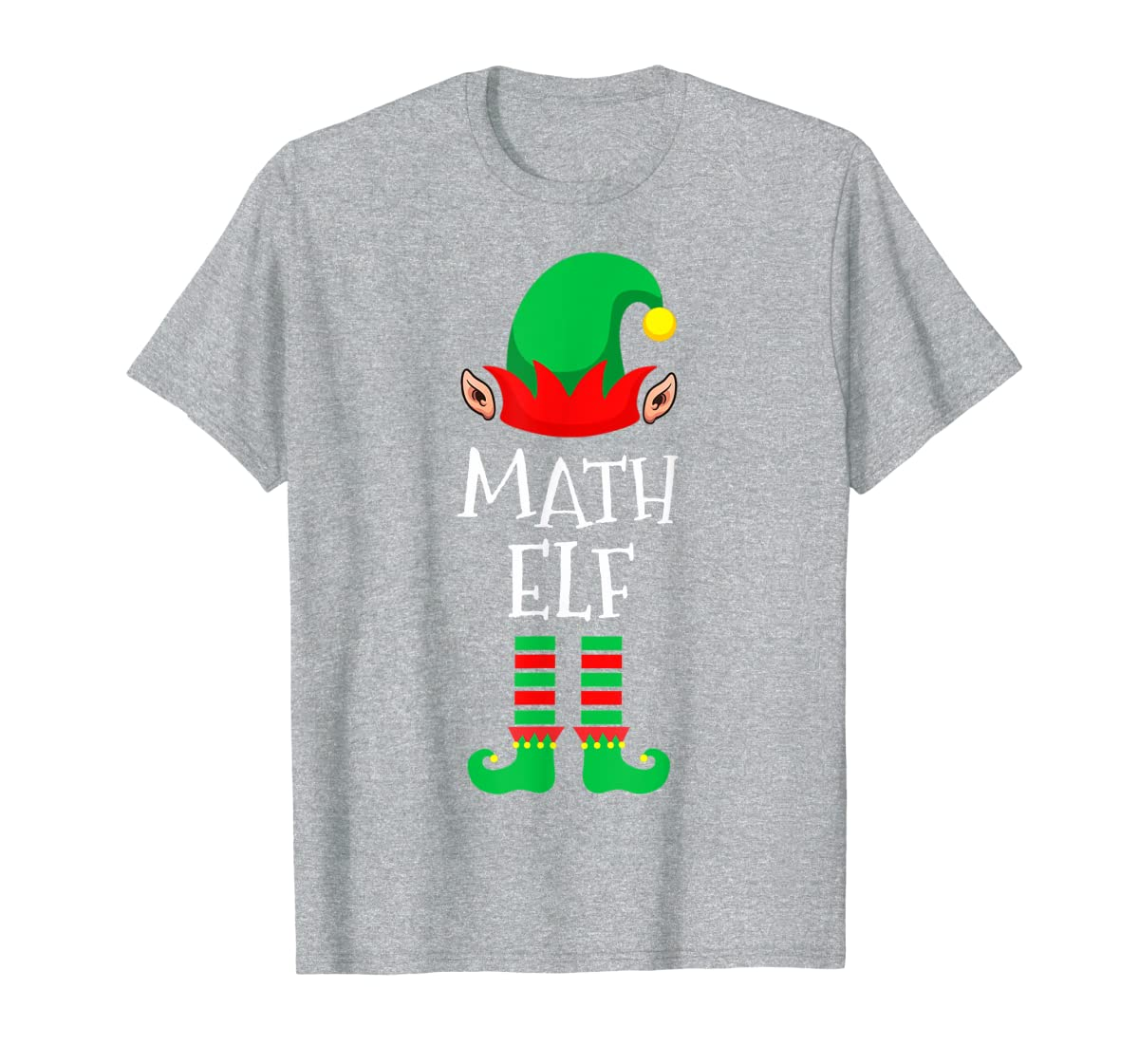 Math Elf - Funny School Teacher Christmas T-Shirt-Men's T-Shirt-Sport Grey