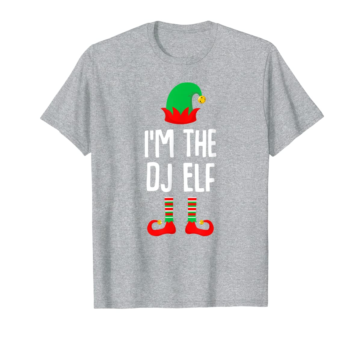 I'm The Dj Elf Matching Family Group Christmas T-Shirt-Men's T-Shirt-Sport Grey