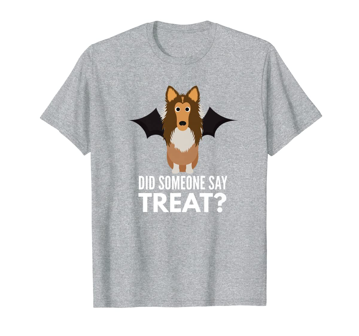 Rough Collie Halloween - Did Someone Say Treat? Premium T-Shirt-Men's T-Shirt-Sport Grey