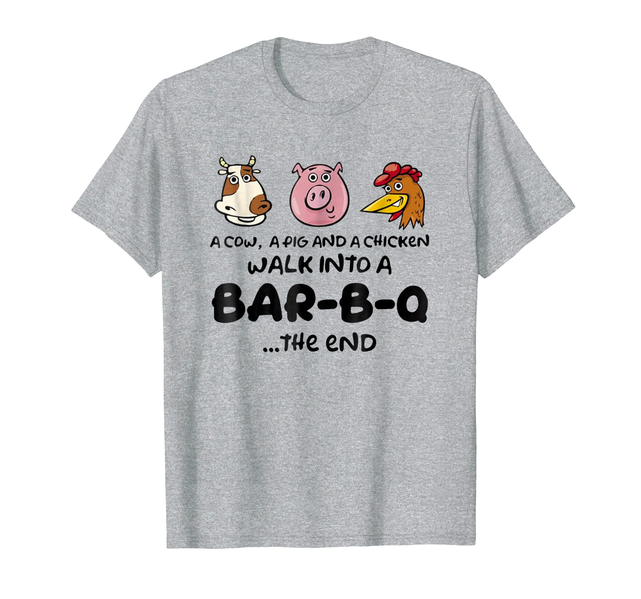 A Pig Chicken Cow Walk Into A Bar T Shirt Gift for Women Men-azvn