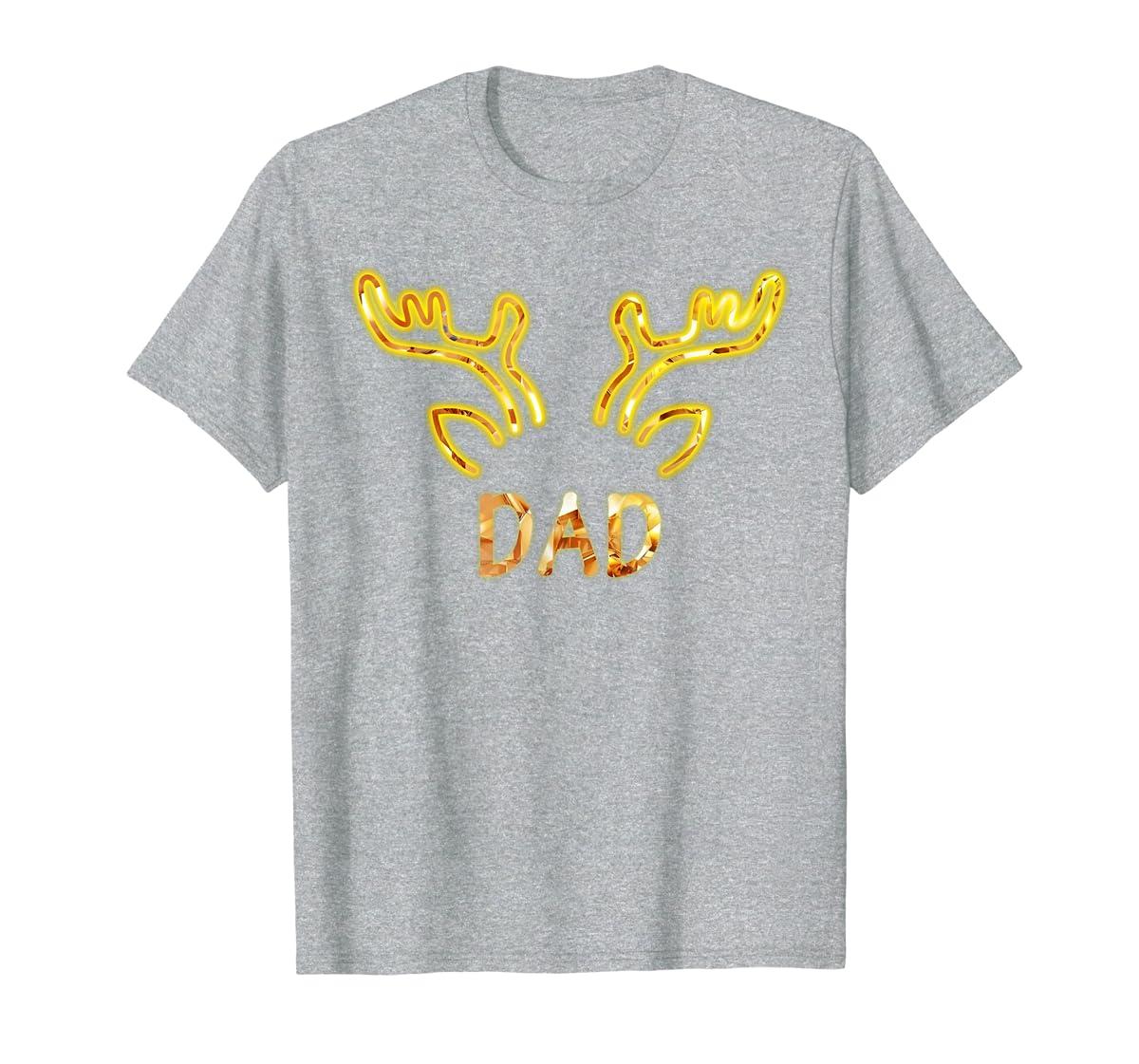Dad Reindeer Matching Family Christmas T-Shirt T-Shirt-Men's T-Shirt-Sport Grey