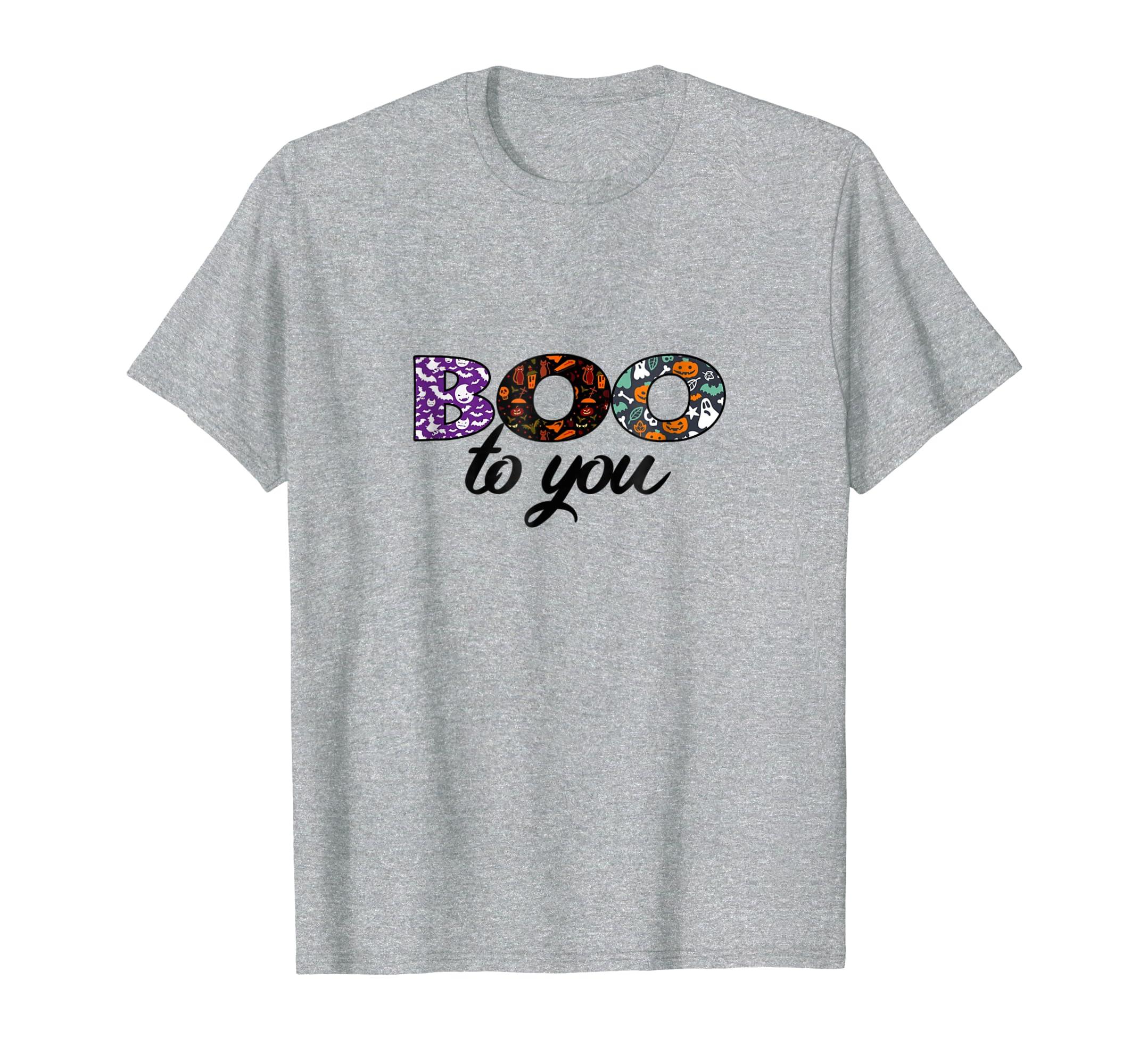 Boo To You Too Shirt Funny Halloween Tshirt for Men Women-SFL