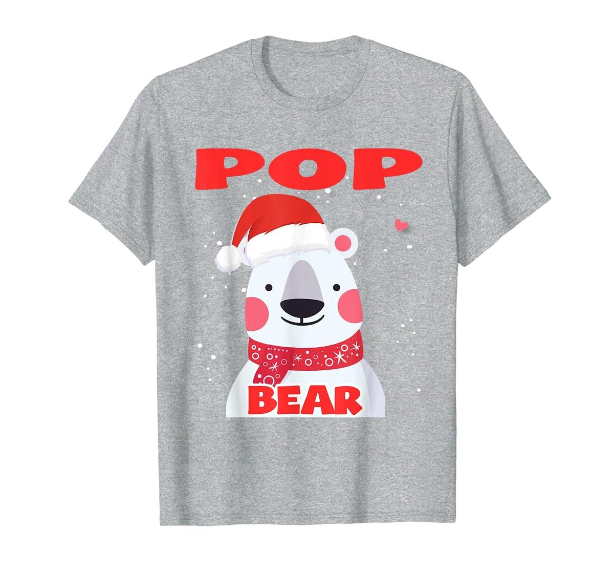 Pop Bear Christmas Grandpa Santa T-Shirt-Men's T-Shirt-Sport Grey