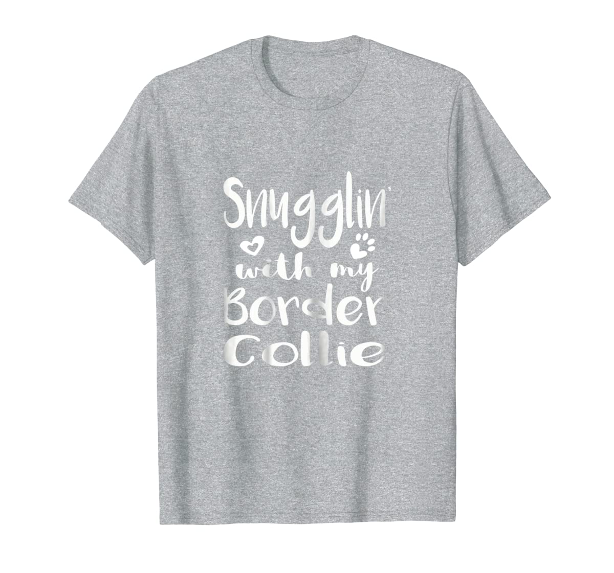 Snuggling with my Border Collie Shirt - Dog Mom pajamas-Men's T-Shirt-Sport Grey