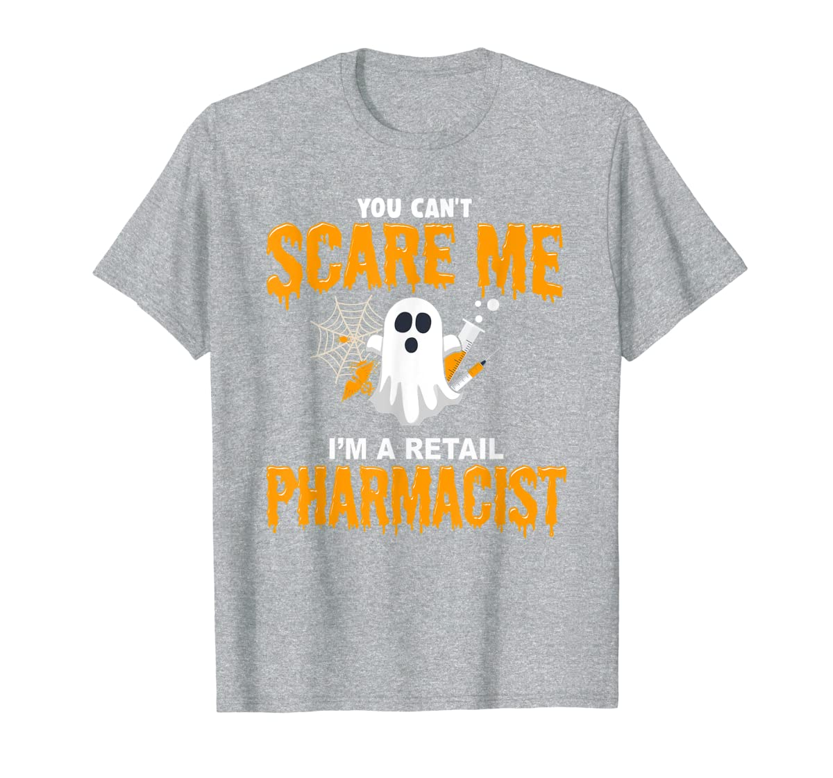 Halloween Costume Shirt I'm A Retail Pharmacist T-Shirt-Men's T-Shirt-Sport Grey