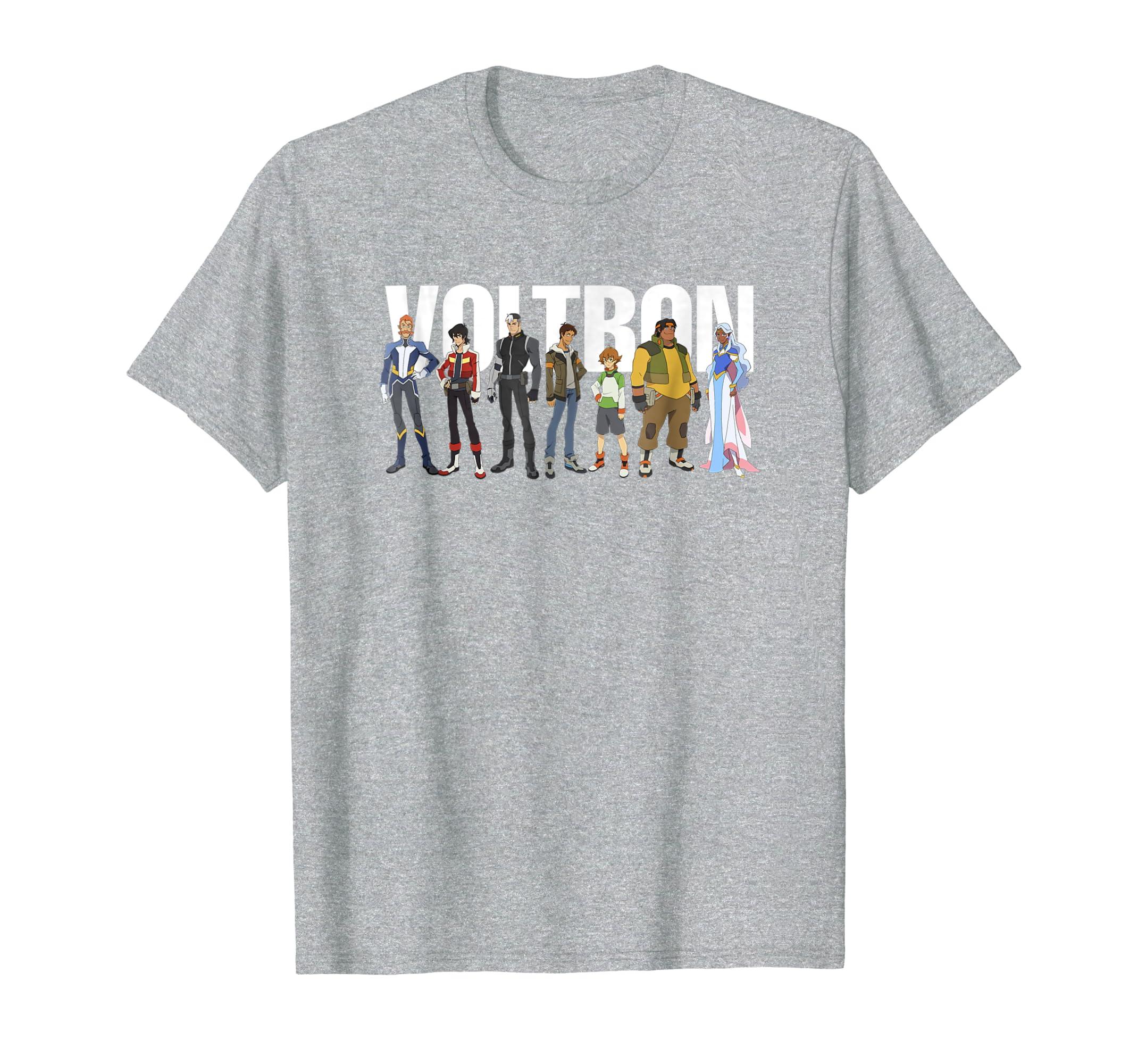 c4515c8d Amazon.com: DreamWorks - Voltron Full Team T-Shirt: Clothing