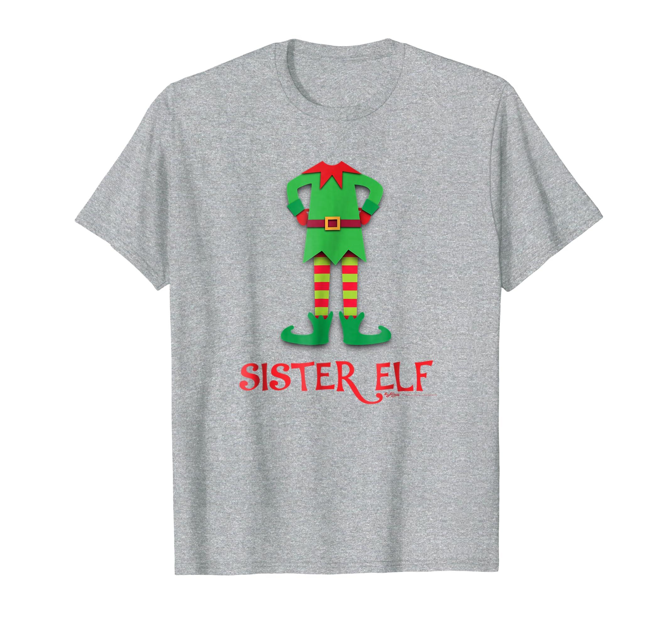 Sister Elf Costume Funny Christmas T Shirt-SFL
