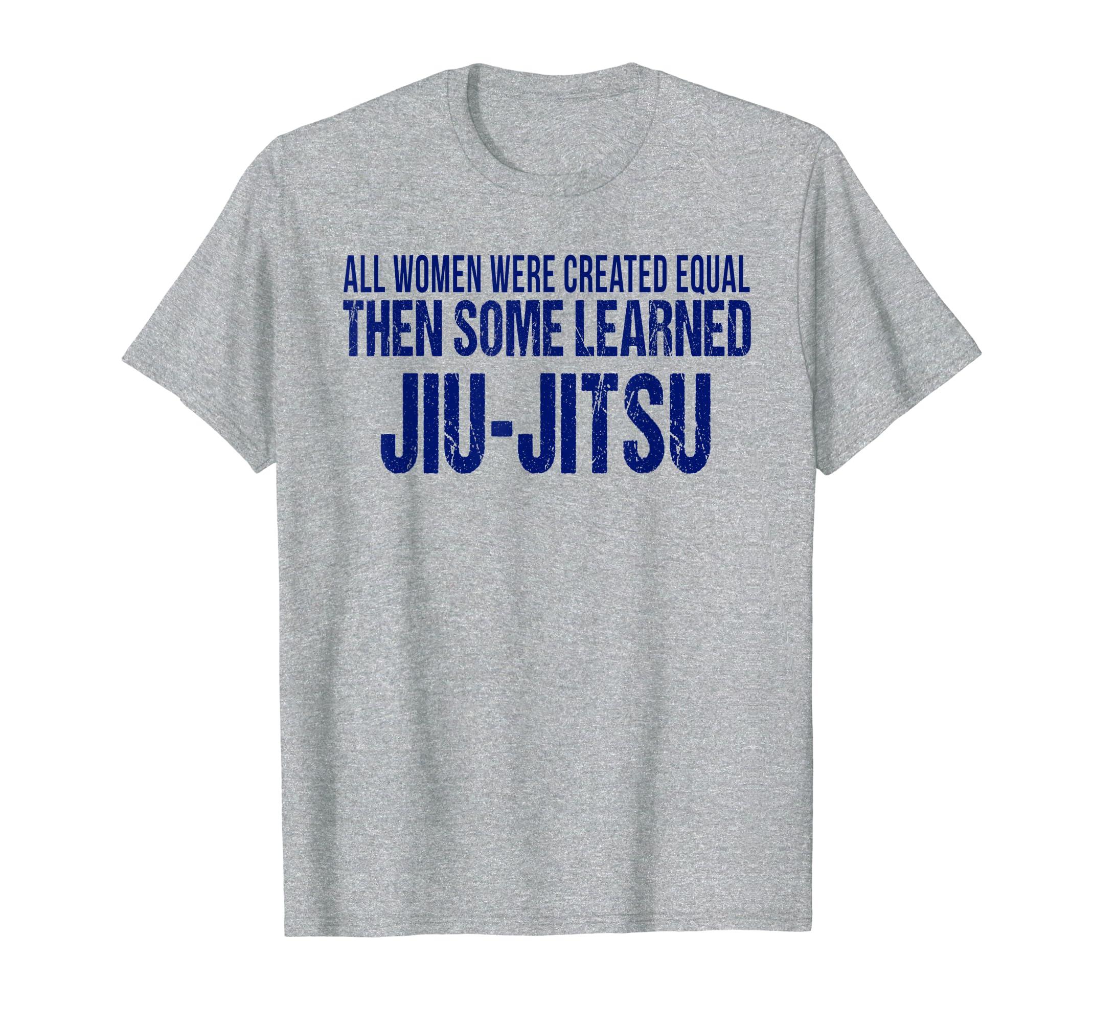 8cf8c8a9 Amazon.com: Funny Jiu Jitsu T-Shirt Women BJJ Brazilian Gi Mixed MMA:  Clothing