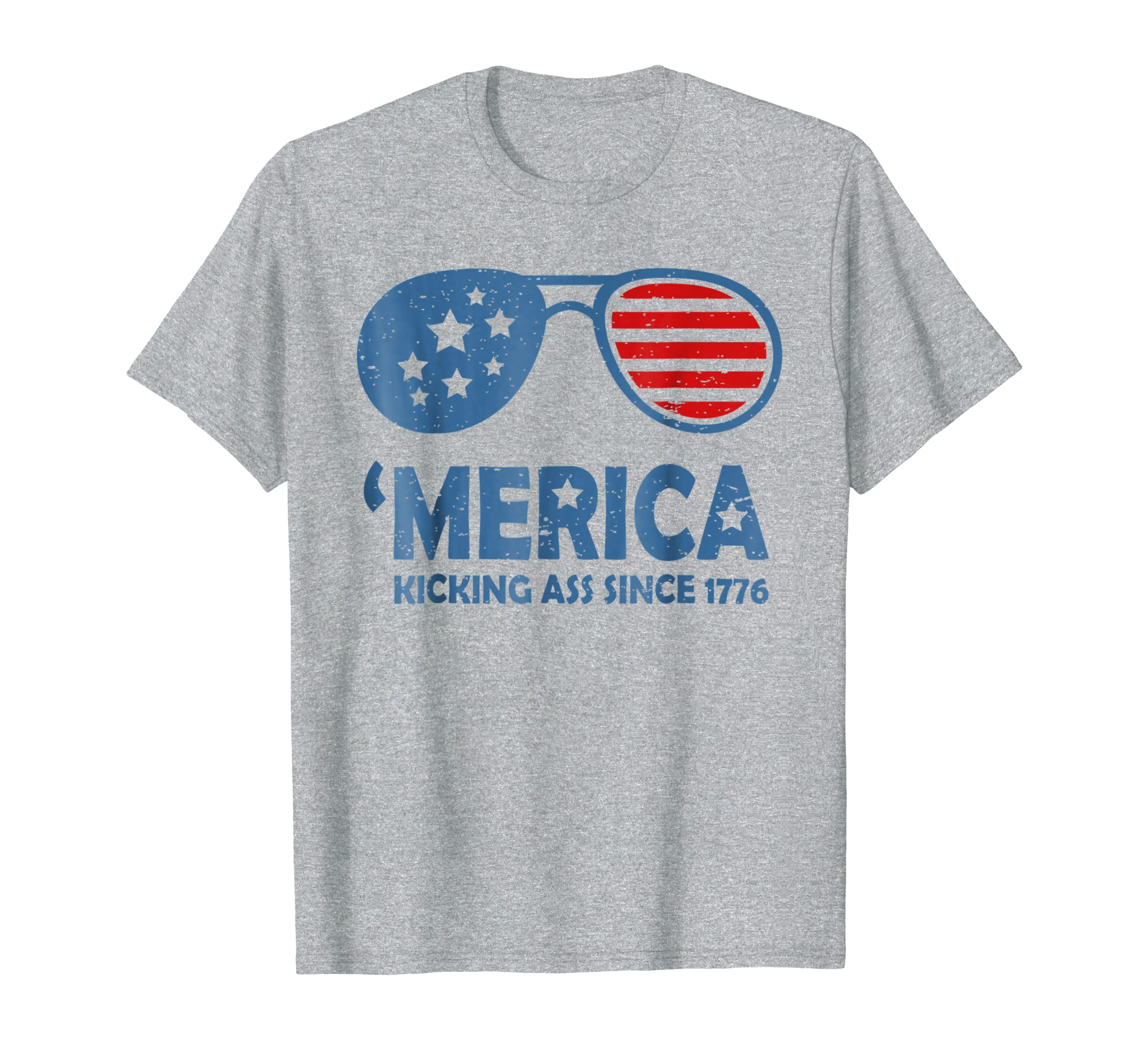 d38592a8 Merica Kicking Ass Since 1776 Tshirt on 4th of July-prm – Paramatee