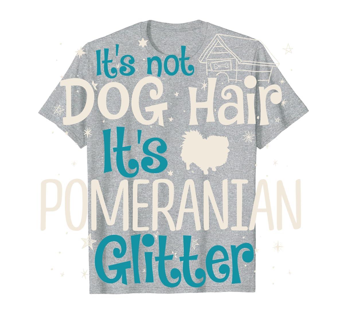 It's Not Dog Hair It's Pomeranian Glitter T-Shirt-Men's T-Shirt-Sport Grey