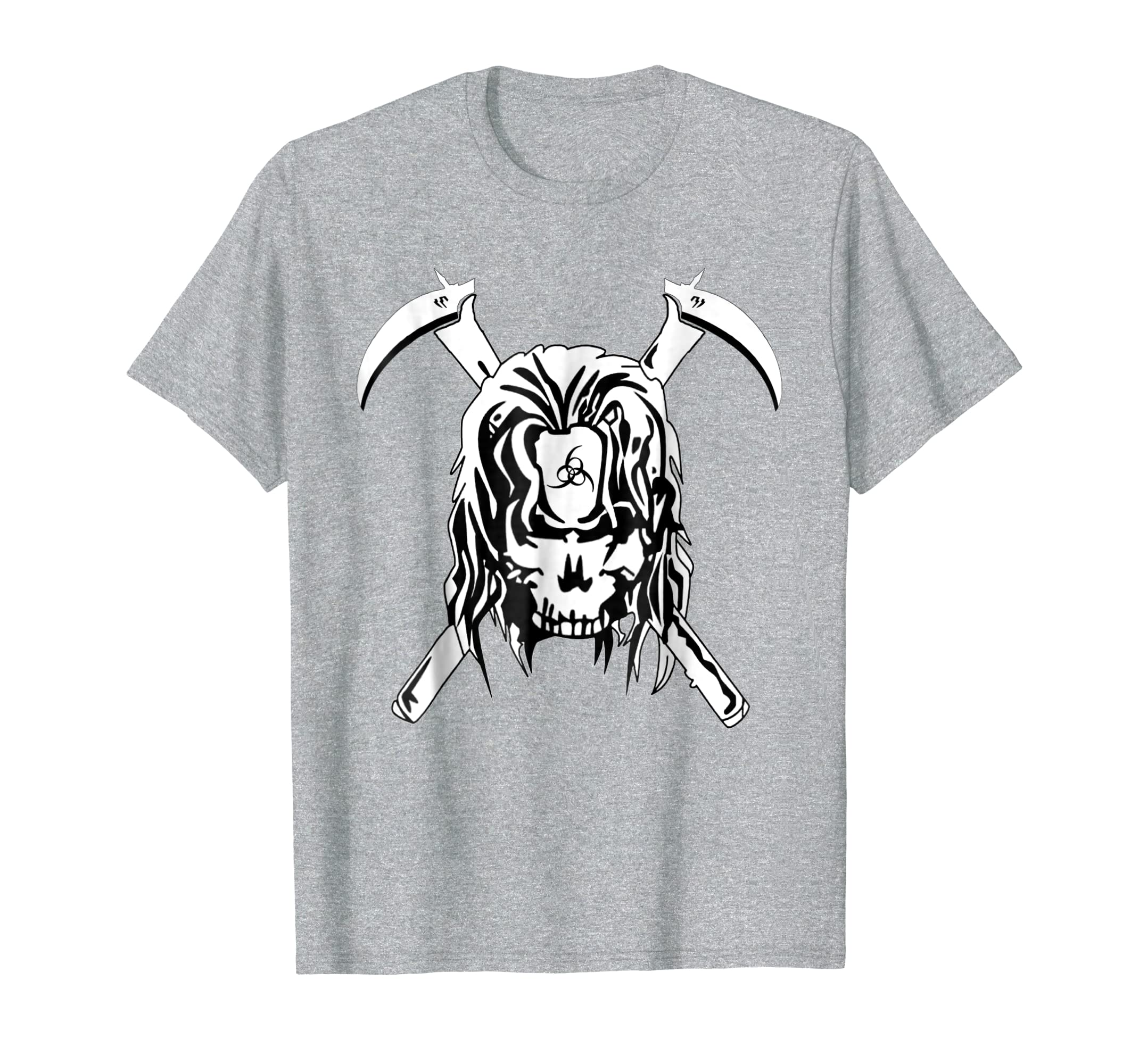 Amazon.com: Feel-ink Skull Death Warrior Sickle Scythe Halloween T-shirt: Clothing