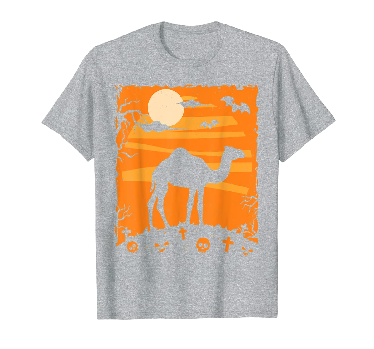 Camel Halloween Costume Animal Funny Pumpkin Outfit Gift T-Shirt-Men's T-Shirt-Sport Grey