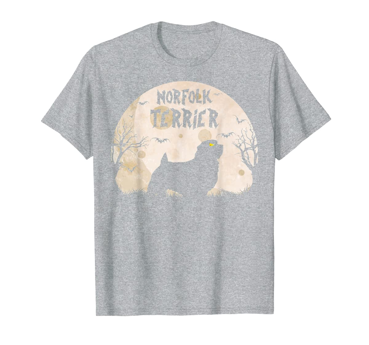 Halloween Horror Norfolk Terrier  T-Shirt-Men's T-Shirt-Sport Grey