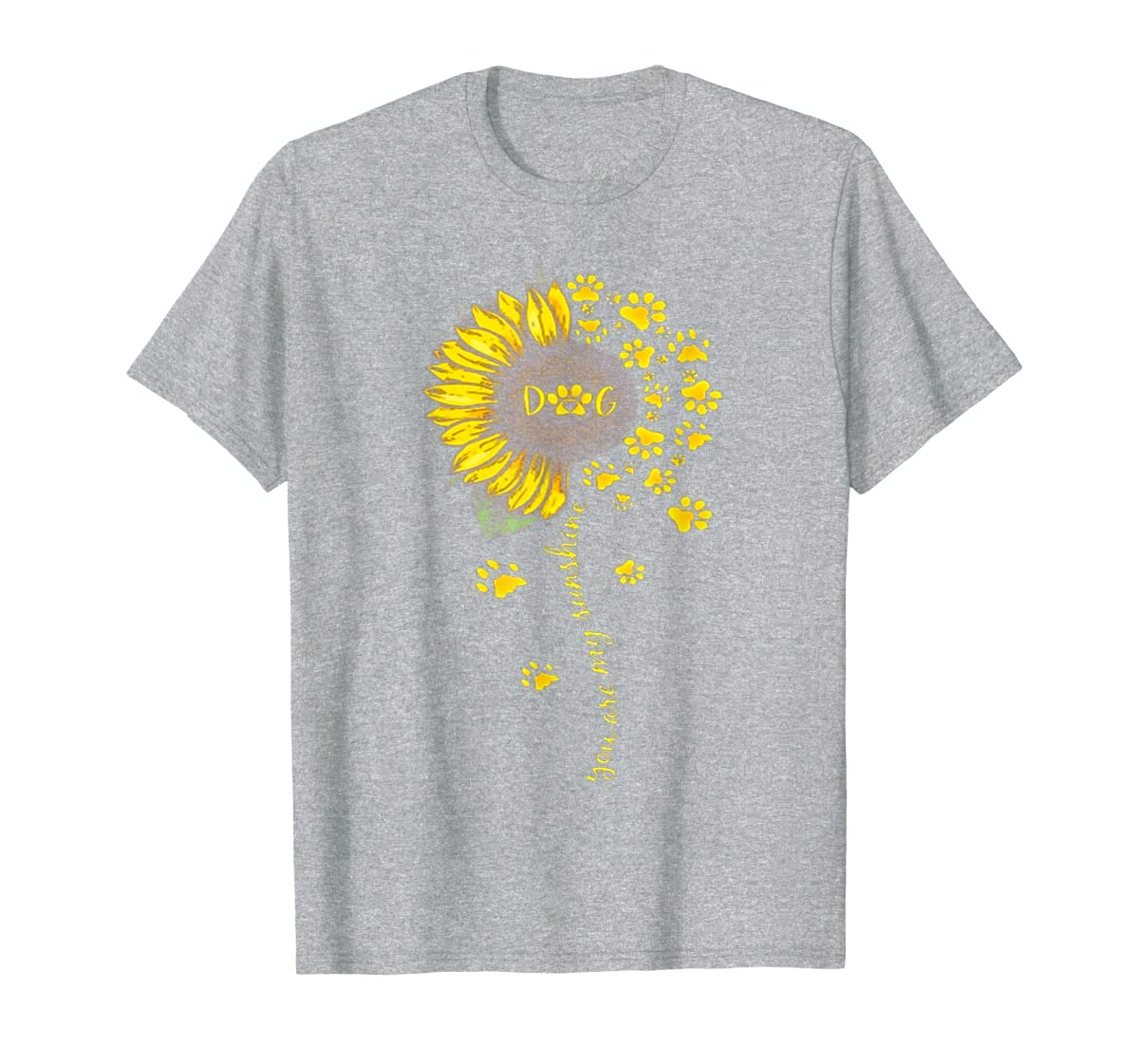 You Are My Sunshine Dog Tshirt-Men's T-Shirt-Sport Grey
